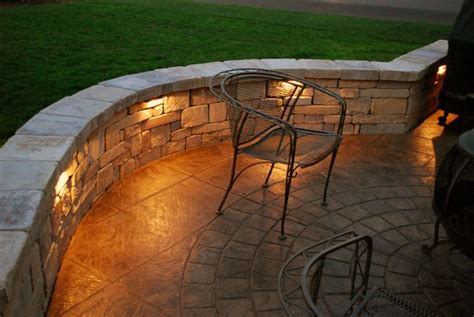 adding lights into sitting wall outdoor spaces patio patio lighting patio wall