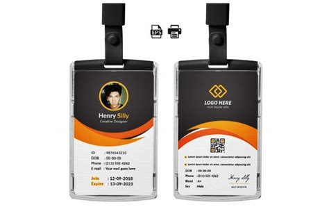 kumpulan template id card panitia karyawan dll