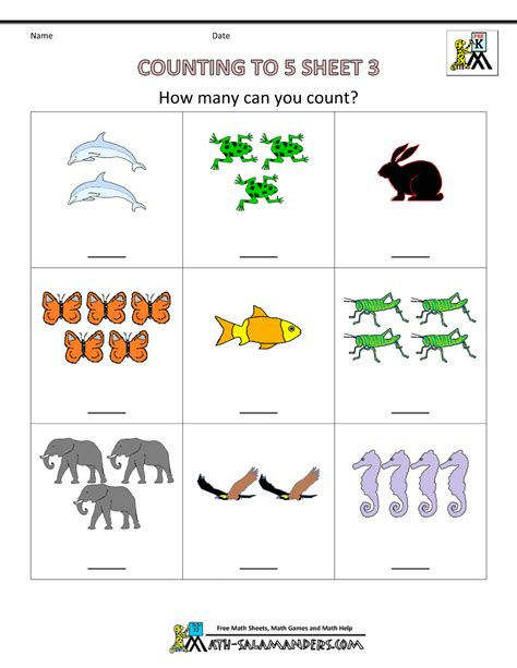 preschool worksheets for preschool counting worksheets counting to 5