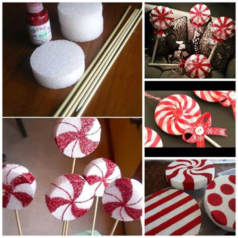diy peppermint lollipops decorations christmas