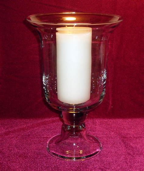 hurricane candle ls hurricane pillar candle vase glass clear 12 inch oos