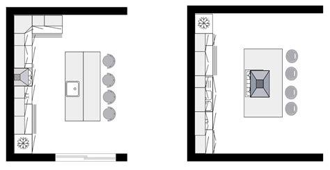 plan cuisine ilot modele agencement cuisine vos espaces nos ides pour les