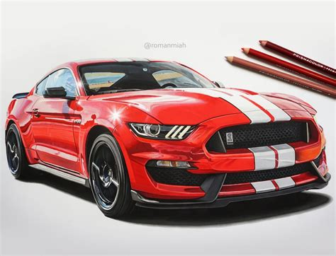 ford mustang shelby gt drawing roman miah draw  drive
