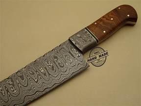 Wood Handle Kitchen Knives Professional Damascus Kitchen Chef S Knife Custom Handmade Knife