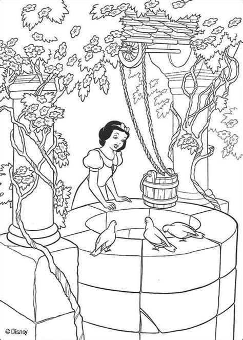 snow white singing coloring pages hellokidscom