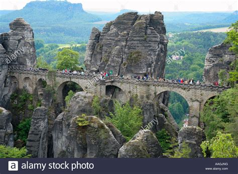 bastei bridge  national park saxon switzerland  saxony