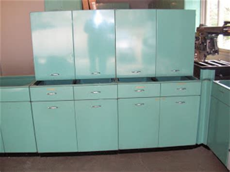Vintage Steel Kitchen Cabinets For Sale by Sold 1963 Geneva Steel Kitchen Cabinets In Aquamarine