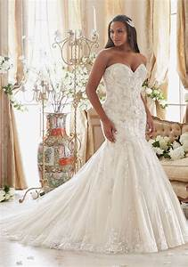 crystallized embroidery on tulle with scalloped hemline With plus wedding dresses