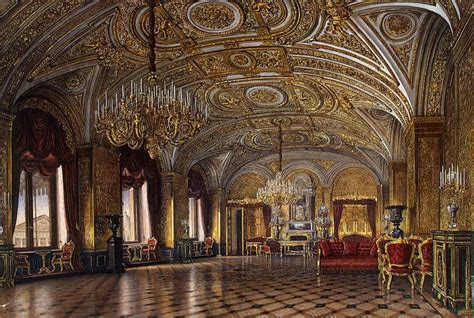 interiors   winter palace  gold drawing room