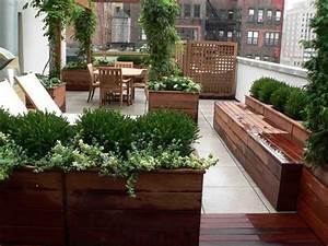 Schöne Terrassen Und Gartengestaltung : sch ne gartengestaltung idee dachterrasse garten holzkisten outdoor pinterest ~ Sanjose-hotels-ca.com Haus und Dekorationen
