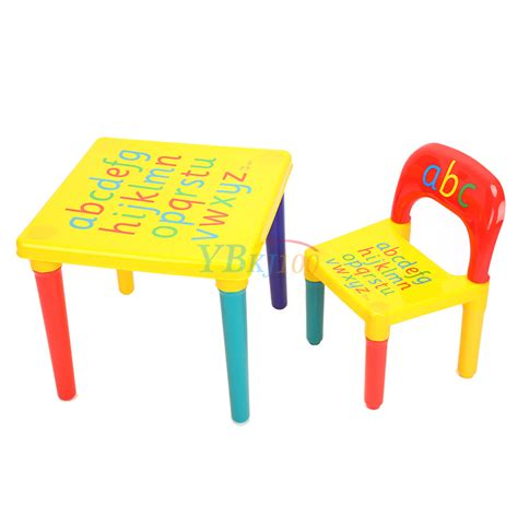 table et chaise pour bébé diy abc alphabet printed children plastic table and chair