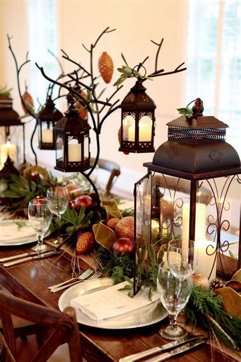 25 Cozy Rustic Christmas Table Décor Ideas Shelterness