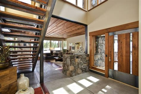 wood home interiors the wood and stone modern home