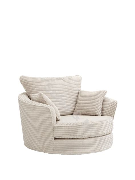 Swivel Cuddle Chair Grey by Large Swivel Cuddle Chair Jumbo Cord Fabric