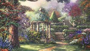 1920x1080 Awesome Nature Park Garden Painting 1080P full ...