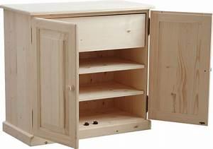 Meuble à Tiroir : meuble chaussures 3 tag res 1 tiroir en bois brut ~ Melissatoandfro.com Idées de Décoration