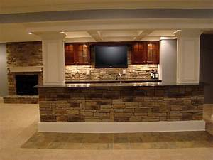 Brick Basement Bar Pictures : Finished Basement Bar