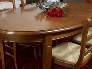 table ovale de salle a manger estelle en merisier massif With meuble salle À manger avec salle À manger louis philippe