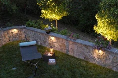 wall lighting back yard ideas retaining walls fireplace