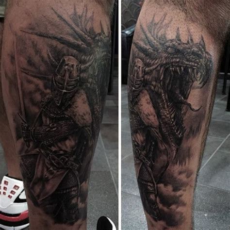 nice  dragon tattoos  leg