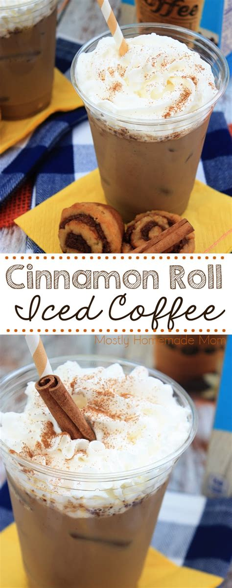 The only iced coffee recipe you need (in 3 'how to' steps). Cinnamon Roll Iced Coffee | Mostly Homemade Mom