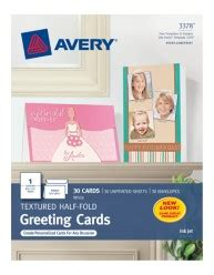 avery printable  fold white uncoated greeting cards