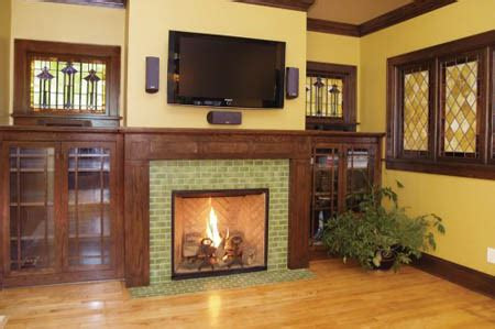 green tile fireplace fireplaces
