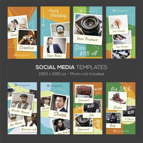 instagram stories template  photo collage frame design