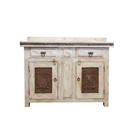 order rustic white vanity made from solid wood