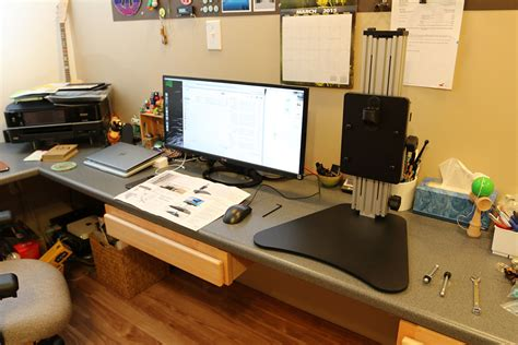 ergo standing desk kangaroo ergo desktop kangaroo pro standing desk review the gadgeteer