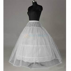 bridal petticoat crinoline hoop skirt a line wedding slip With wedding dress hoop skirt