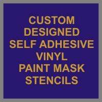 self adhesive paint mask stencils for diy signs from vinyl With self adhesive letter stencils