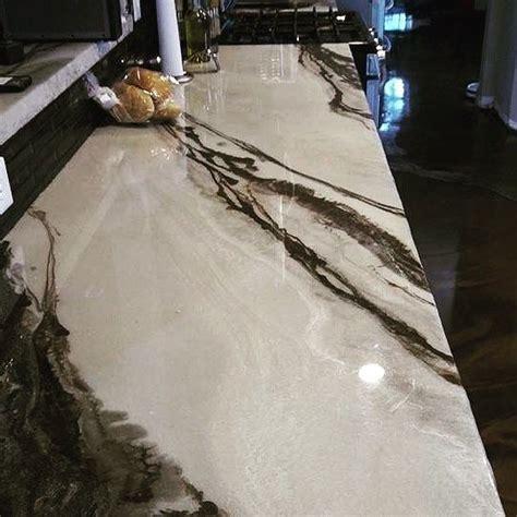 metallic marble epoxied countertop  amazing