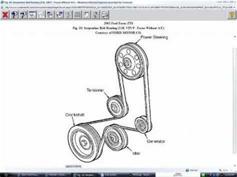 2006 Ford Focu Belt Diagram by 2008 Ford Focus Serpentine Belt Replacement Www