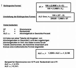 Alkohol Berechnen : forum formeln zur berechnung des alkohol gehaltes ~ Themetempest.com Abrechnung