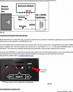 Modern Tr1003 Fireplace Remote Control Transmitter User
