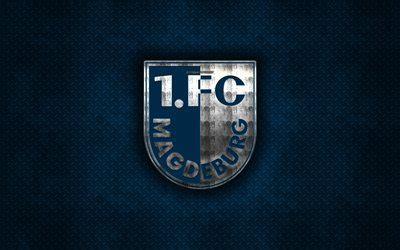 herunterladen hintergrundbild magdeburg fc blau metall