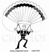 Parachute Clipart Cartoon Underwear Poster Male Skydiver Print Rf Royalty Clip Parachuting sketch template