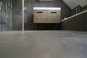 le beton cire dans la maison moderne With carrelage adhesif salle de bain avec bougie à led rechargeable