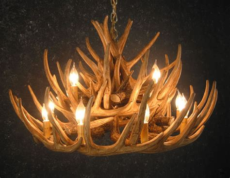 whitetail 21 antler cascade chandelier