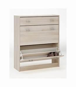 Meuble à Tiroir : meuble a chaussures 2 abattants 1 tiroir tidy home ~ Edinachiropracticcenter.com Idées de Décoration