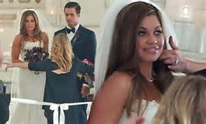 Danielle Fishel wows in strapless lace gown as she marries