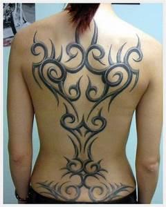 Full Back Tribal Tattoos For Women - Tattoo Designs ...