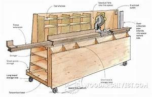Wood Storage and Miter Saw Stand Plans - Miter Saw Tips