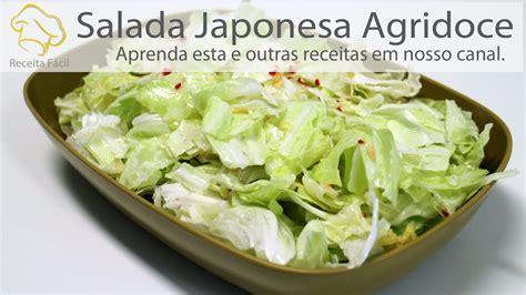 salada japonesa agridoce como faz salada de repolho