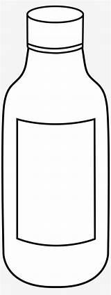 Coloring Bottle Vinegar Empty Clipart Pngkit sketch template