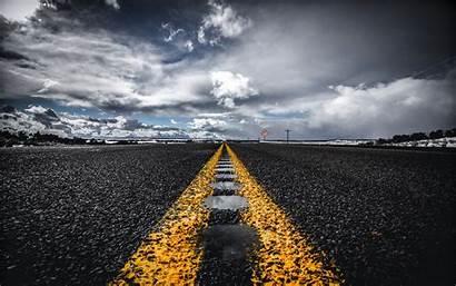 Road Horizon Asphalt Marking Background Widescreen