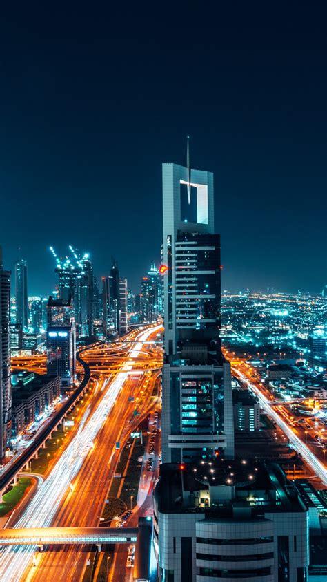 wallpaper dubai cityscape night   world