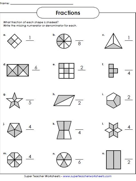 Fractions Worksheets  Math  Worksheets  Pinterest  Math, Math Worksheets And Worksheets