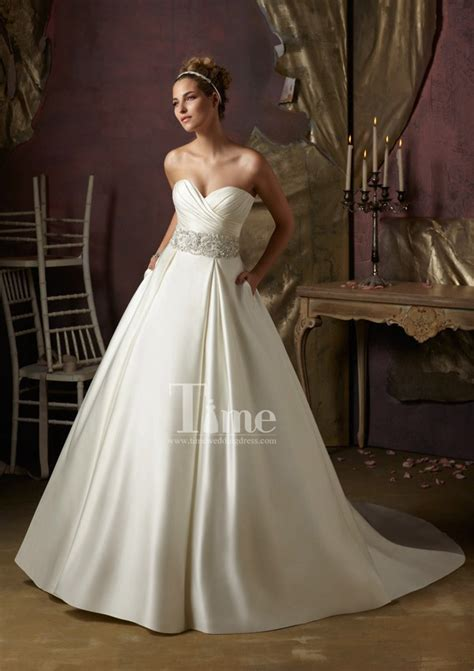 Ball Gown Sweetheart Simple And Elegant Modest Beaded Belt